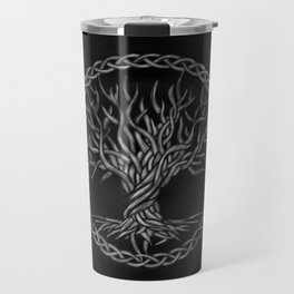 Tree of life -Yggdrasil -grayscale Travel Mug