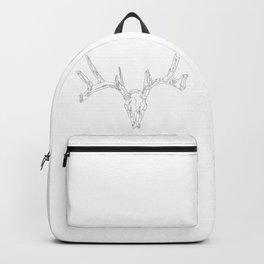 1 Line Deer Skull Backpack