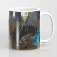 platypus Mugs featuring The Platypus by Thyra