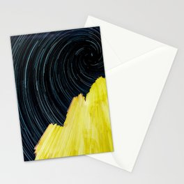Long exposure night Stationery Cards