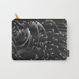 Sea Swirls, Black and White Carry-All Pouch
