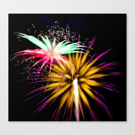Geometric Firework 21 Canvas Print