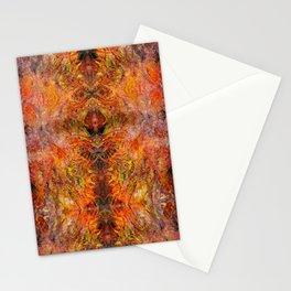 Abstract acrylic sunburst v1 Stationery Cards