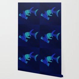 Ombre Blues Hammerhead Wallpaper