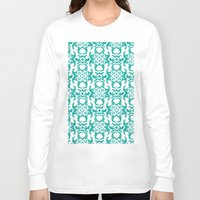 ikat Long Sleeve T-shirts featuring Summer Ikat by Jada K McGill
