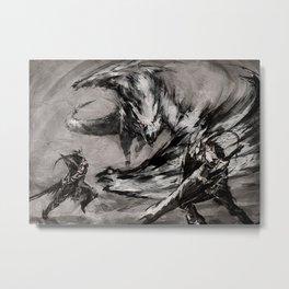 Monter Hunter Metal Print