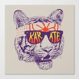 Karate Tiger Canvas Print