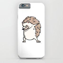 Funny Dabbing Hedgehog Pet Dab Dance iPhone Case
