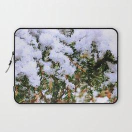 Snow on Evergreen Boughs Laptop Sleeve