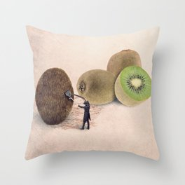 The kiwis hairdresser Throw Pillow