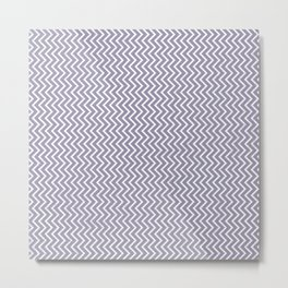 Lilac-gray and white chevrons with texture Metal Print