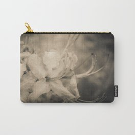 Sepia Aged Rhododendron Blooms Nature / Floral Photograph Carry-All Pouch