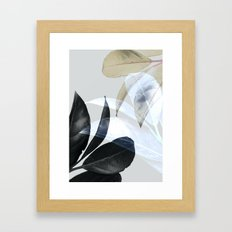 Plant Leaves, Botanical, Foliage Framed Art Print