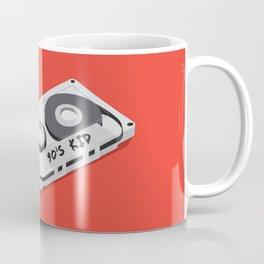 90's Kid Cassette Tape Illustration Coffee Mug