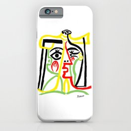 Pablo Picasso, Jacqueline with Straw Hat 1962, Artwork for Posters Prints Tshirts Women Men Kids iPhone Case