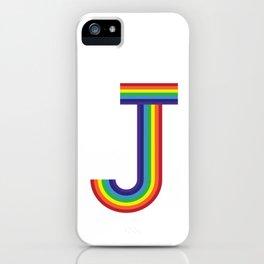 Rainbow Monogram - Letter J iPhone Case