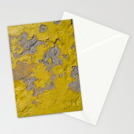 Yellow Peeling Paint on Concrete 1 Stationery Cards
