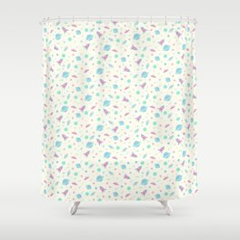 Pastel Space Travel! Shower Curtain