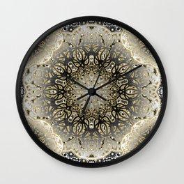 Gilded Nouveau Mandala Wall Clock