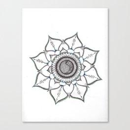 Colored Handmade Unalome Mandala Canvas Print