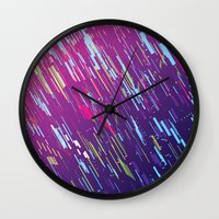 aurora Wall Clocks featuring Aurora by ThoughtCloud