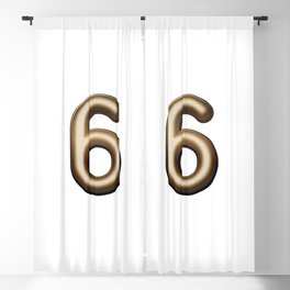 Chocolate Number 6 Blackout Curtain