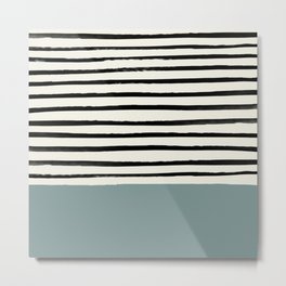 River Stone & Stripes Metal Print