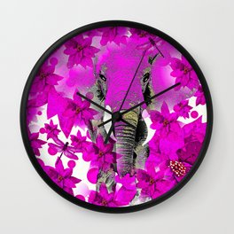 Elephant #66 Wall Clock