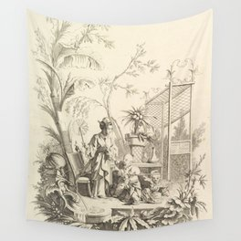 Grisaille Chinoiserie Wall Tapestry