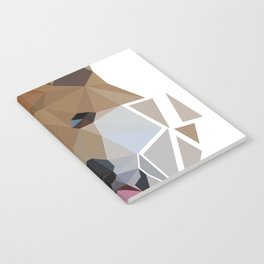 Low polygon shiba inu face Notebook