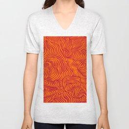 orange red flow Unisex V-Neck