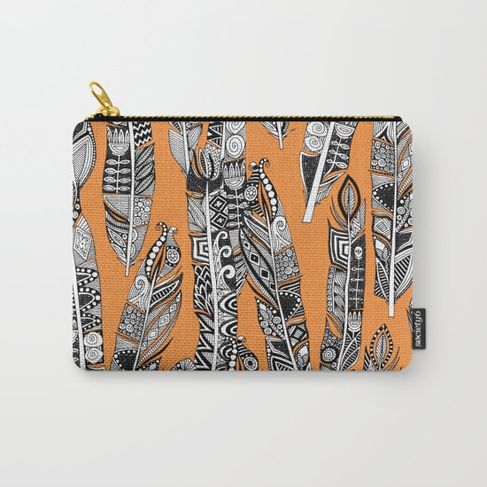geo feathers orange Carry-All Pouch