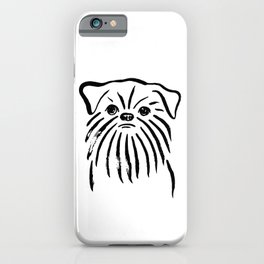 Brussels Griffon (Black and White) iPhone Case