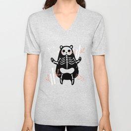 My Skeleton Friends - Panda Unisex V-Neck