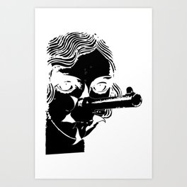 she shots shits Art Print