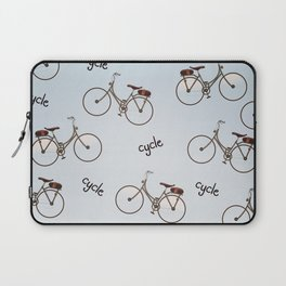 cycle biking poster pattern. Laptop Sleeve