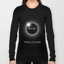 Total Solar Eclipse Shirts. Best Seller. USA- 08.21.2017.TOTALLY ECLIPSED.SALE Long Sleeve T-shirt