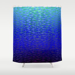 Sharks In Deep Water. Shower Curtain