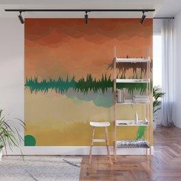 "Digital Abstract Landscape ""Minnesota Memories"" Wall Mural"