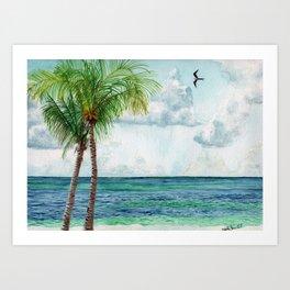Peaceful Mexico Beach Art Print