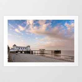 Penath Pier at sunset Art Print
