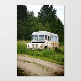 A Bus in Russia Canvas Print