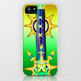 Fusion Keyblade Guitar #140 - Aubade & Larxene's Knives iPhone Case
