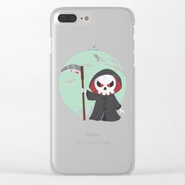 Grim Reaper Grim Reaper Dead witizg Halloween Gift Clear iPhone Case