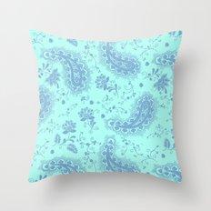 sea paisley Throw Pillow
