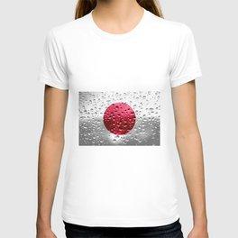 Flag of Japan - Raindrops T-shirt