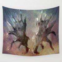 antlers Wall Tapestries featuring Antlers by KesuOriesok