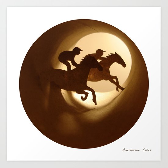 Horse racing (Courses hippiques) Art Print
