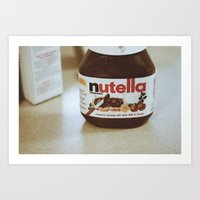 nutella Art Prints featuring Nutella by Danielle Clark