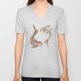 Yin Yang Fish Unisex V-Neck